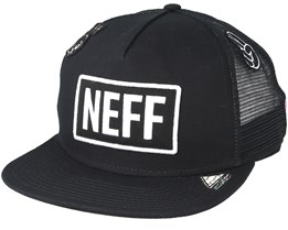 Atoms Trucker Black Snapback - Neff