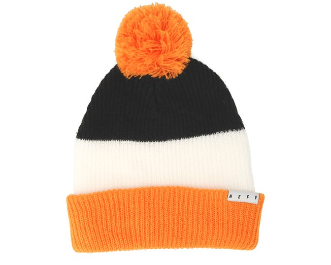 276c30ab4 Snappy Black/White/Orange Beanie - Neff beanies - Hatstorecanada.com
