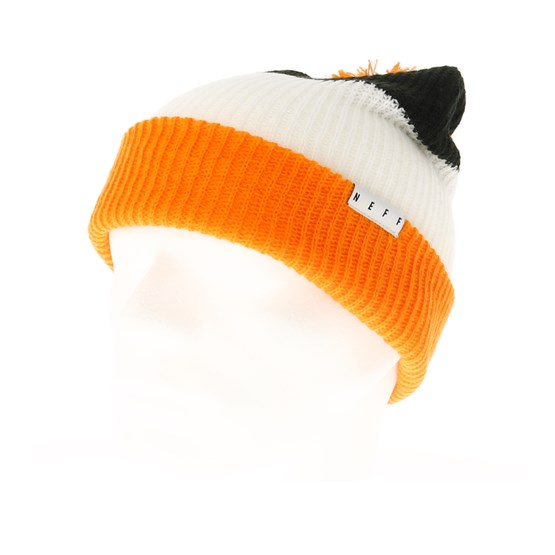 6126876de Snappy Black/White/Orange Beanie - Neff