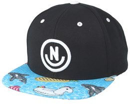 Daily Smile Pattern Black/Pool Party Snapback - Neff