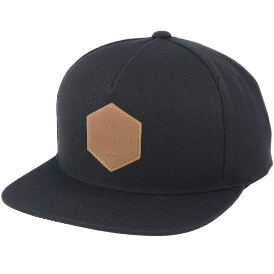 7d0cea1f Y Cap Black/Gum Snapback - Neff caps   Hatstore.co.uk