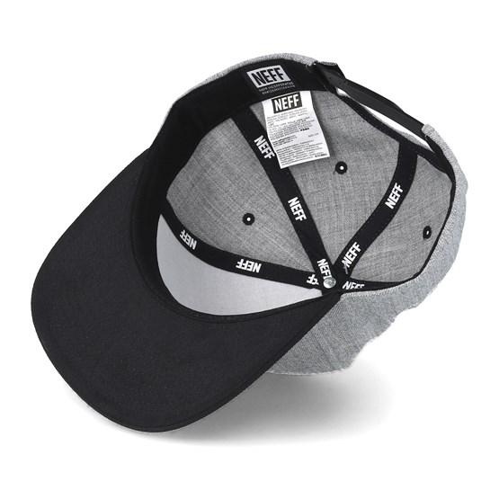 lowest price fa1e7 59ae2 Y Cap Grey Black Snapback - Neff caps - Hatstoreworld.com