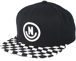 Daily Smile Pattern Black/Checker Snapback - Neff