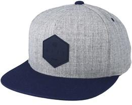 Y Cap Grey/Navy Snapback - Neff
