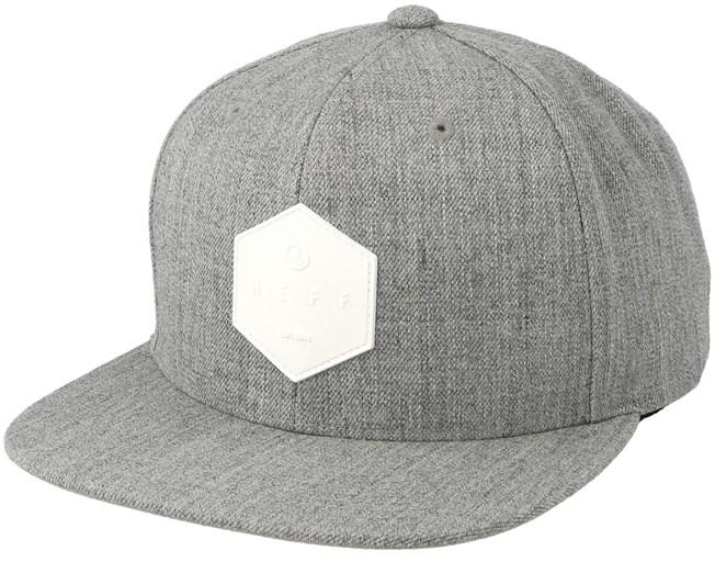 20f00b39163 Y Cap Heather Grey Snapback - Neff caps - Hatstoreworld.com