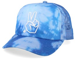 Peace Wash Cyan Bleach Trucker - Neff