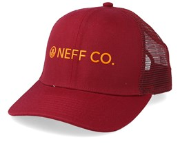 Lock Up Maroon/Tangerine Trucker - Neff