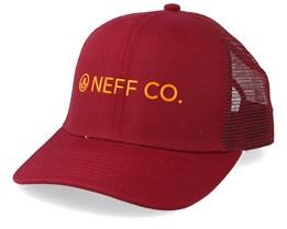 41ad43d95 Lock Up Maroon Tangerine Trucker - Neff