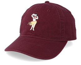 Tropical Dad Cap Maroon Adjustable- Neff
