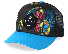 Hot Tub Neon Tropical/Black Trucker - Neff