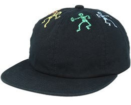 Owsley 6 Panel Black Snapback - Huf