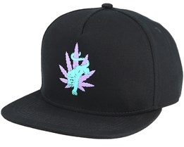Blacklight Panther Black Snapback - Huf