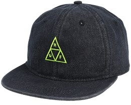 Formless Denim Triple Triangle Black Snapback - Huf