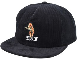 Case Closed Black Strapback - Huf
