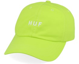 Essentials Og Logo Cv Hat Hot Lime Adjustable - HUF