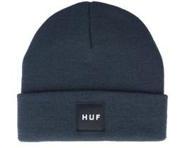 Box Logo Beanie French Navy Cuff - HUF