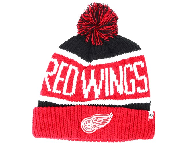 1baa9c701351ef Detroit Red Wings Breakaway Knit Black Pom - 47 Brand beanies ...