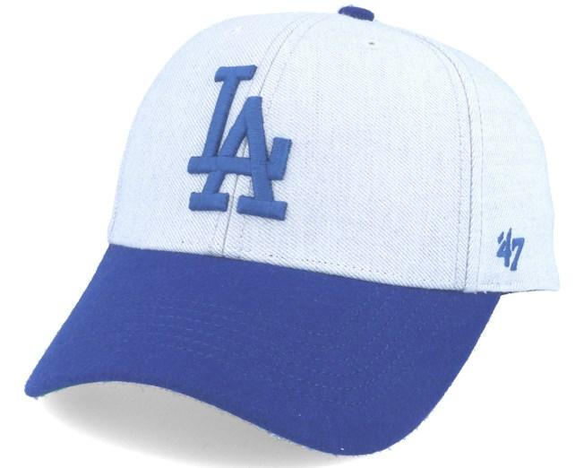 5d9d233fd65ef Los Angeles Dodgers Munson Mvp Grey royal Blue Adjustable - 47 Brand cap -  Hatstore.co.in