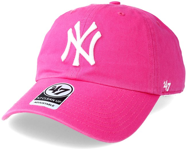 big sale dc796 fcc23 New York Yankees Clean Up Magenta Adjustable - 47 Brand caps -  Hatstoreworld.com