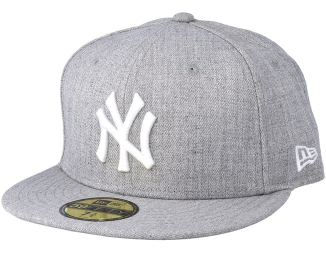 52ea4d529a9 New York Yankees MLB Basic Heather Grey 59Fifty Fitted - New Era ...