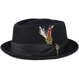 Odenton Black Pork Pie - Stetson hats - Hatstoreworld.com aedf5b047e93