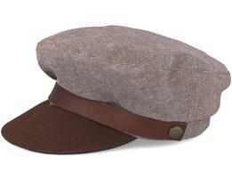 Fiddler Brown Flat Cap - Brixton