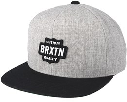Garth Light Heather Grey/Black Snapback - Brixton