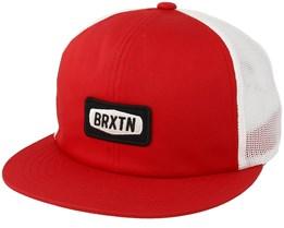 Rockford Mesh Red/White Trucker - Brixton