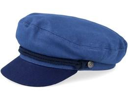 Fiddler Blue/Dark Navy Flat Cap - Brixton