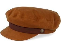 Fiddler Brown/Dark Brown Flat Cap - Brixton
