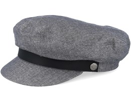 Fiddler Middle Grey Flat Cap - Brixton