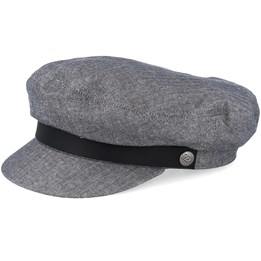 ed2c48816 Fiddler Middle Grey Flat Cap - Brixton
