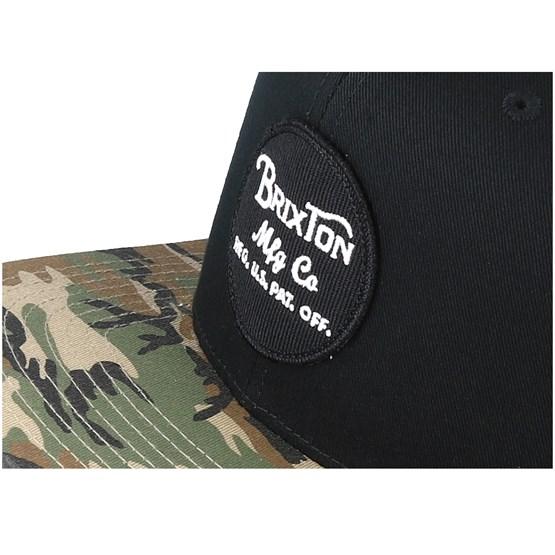 6adef2569c5323 Wheeler Black/Camo Snapback - Brixton caps - Hatstoreworld.com