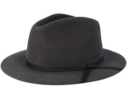 Coleman Washed Black Fedora - Brixton