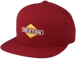 Brink Mp Burgundy Snapback - Brixton