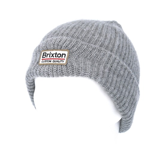 2526d919756 Palmer II Light Heather Grey Beanie - Brixton beanies - Hatstoreworld.com