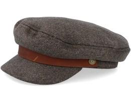 Fiddler Brown/Grey Flat Cap - Brixton