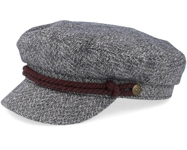 9e2933bf5e6 Fiddler Heather Grey Cream Flat Cap - Brixton caps