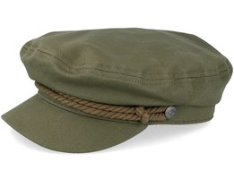 Fiddler Military Olive Flat Cap - Brixton
