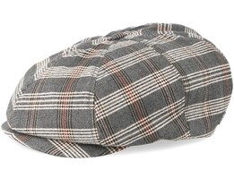Brood Grey/Tan Plaid Snap Cap - Brixton