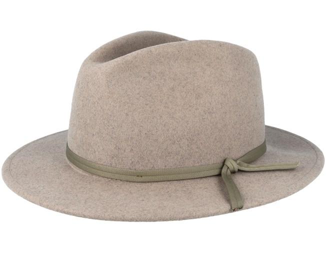 44cc204f67 Coleman Heather Natural Fedora - Brixton hatt - Hatstore.se