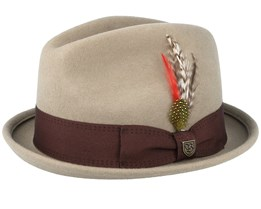 Gain Light Khaki/Brown Fedora - Brixton