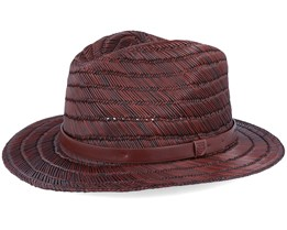 Messer Straw Fedora Brown Straw Hat - Brixton