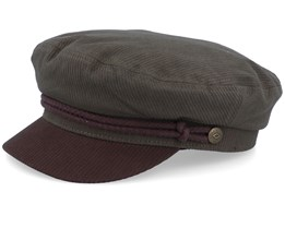 Fiddler Army/Bison Brown Flat Cap - Brixton