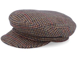 Fiddler Unconstructed Multi Plaid Flat Cap - Brixton