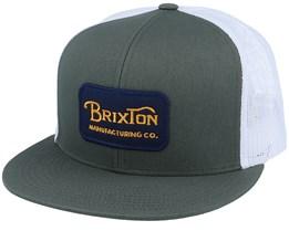 Grade Cypress Green/White Trucker - Brixton