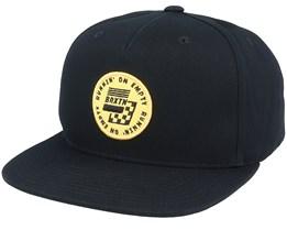 Gas MP Black/Yellow Snapback - Brixton