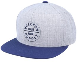 Oath Iii Heather Grey/Washed Navy Snapback - Brixton