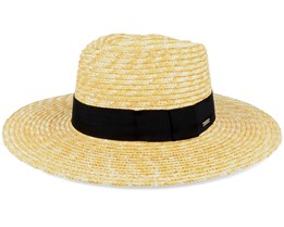 Joanna Hat Honey/Black Straw Hat - Brixton