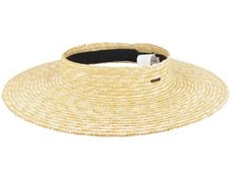 Joanna Visor Honey Straw Hat - Brixton